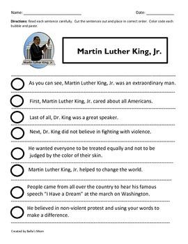 PARAGRAPH CUT & PASTE: MARTIN LUTHER KING, JR.