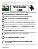 PARAGRAPH CUT & PASTE: FOREST ANIMALS