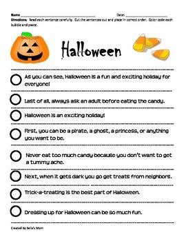 Paragraph Cut & Paste: Halloween