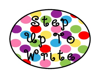 STEP UP TO WRITING POSTER DOTS 5