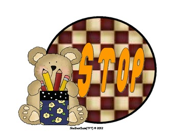 STEP UP TO WRITING POSTER DOTS - BEAR THEME