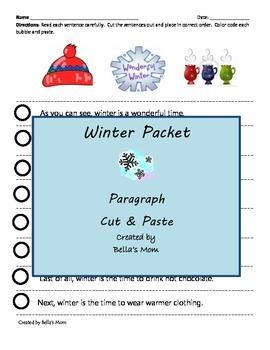 Paragrah Cut & Paste Winter Packet