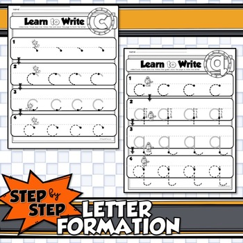STEP by STEP CORRECT LETTER FORMATION for Uppercase and Lowercase
