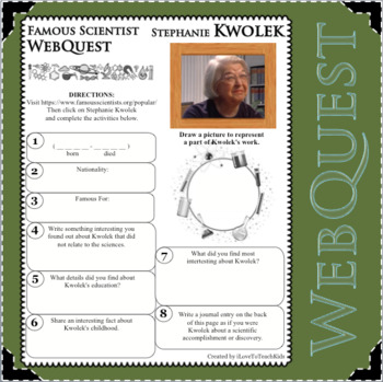 STEPHANIE KWOLEK - WebQuest in Science - Famous Scientist - Differentiated