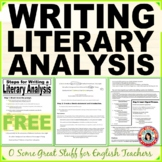 STEPS FOR WRITING A LITERARY ANALYSIS