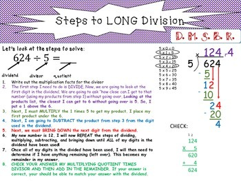 STEPS to Long Division