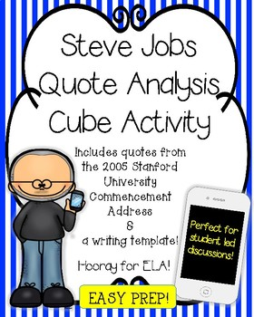 STEVE JOBS QUOTE ANALYSIS CUBE WITH WRITING TEMPLATE