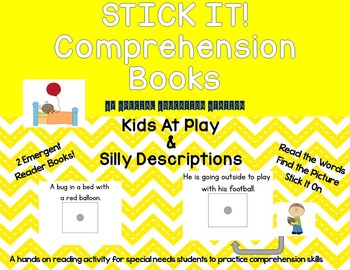 STICK IT! Kids at Play and Silly Descriptions- Comprehension Books