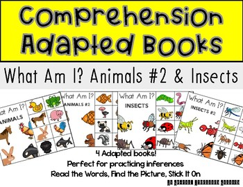 STICK IT! What Am I? Animals #2 and Insects- Comprehension Books