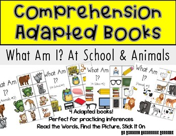 STICK IT! What Am I? School Supplies and Animals #1- Comprehension Books