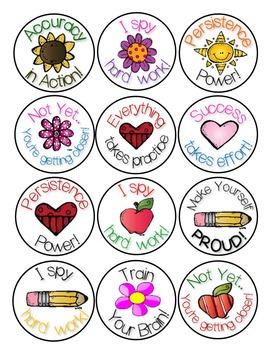 STICKERS! Growth Mindset Reward and Motivation Stickers!