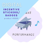STICKERS Recital Badges Music Piano Lessons - Instant DIGI