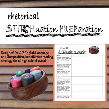 STITCHPREP: A Rhetorical Situation Reading Strategy Designed for AP Lang