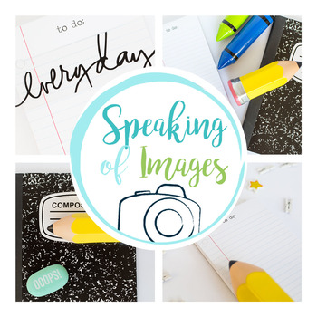 STOCK IMAGES: Teacher Desktop images for Resource Covers or Social Media Posts