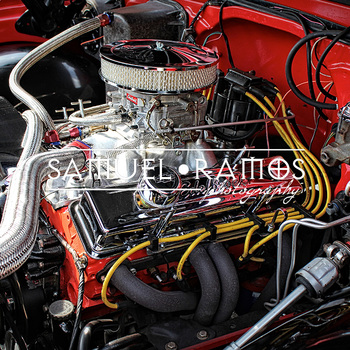 STOCK PHOTOS: Antique Car Motor [Personal & Commercial Use]