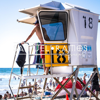 STOCK PHOTOS: Beach Lifeguard [Personal & Commercial Use]