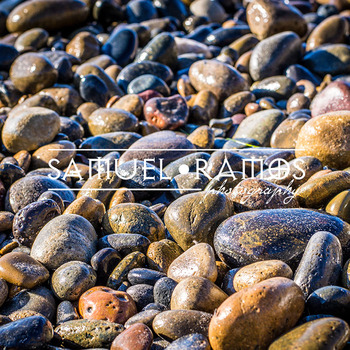 STOCK PHOTOS: Beach Wet Rocks Background [Personal & Commercial Use]