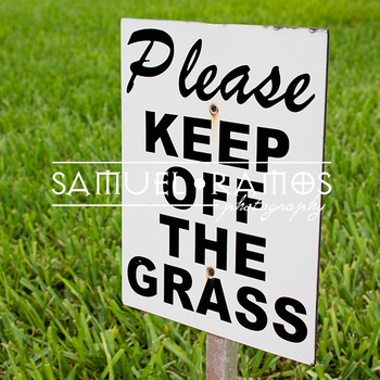 STOCK PHOTOS: Keep Off The Grass Sign [Personal & Commercial Use]
