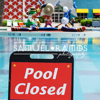 STOCK PHOTOS: Pool Closed Signed [Personal & Commercial Use]