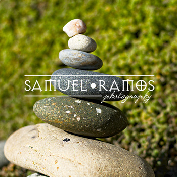 STOCK PHOTOS: Stacked Rocks on the Beach [Personal & Commercial Use]