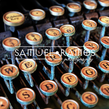 STOCK PHOTOS: Typewriter Keys [Personal & Commercial Use]