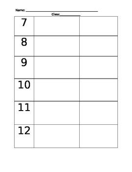 STOMP worksheet