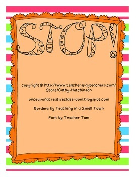 STOP - Assignment Hand In Sign