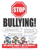STOP BULLYING multiple-size poster with Tykes on Bike