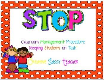 STOP Behavior Management