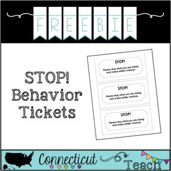 STOP! Behavior Ticket