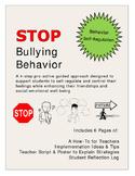STOP Bullying Behavior: Self-Regulation Classroom Management Character Education