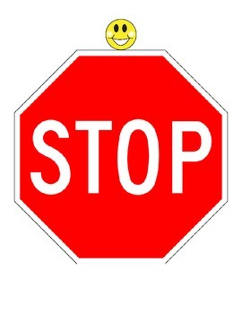STOP - Classroom Door Sign