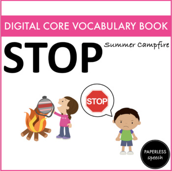STOP - Digital AAC Core Vocabulary Book - Summer Edition