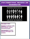 STOP Stereotyping, Prejudice and Discrimination-lesson and activities