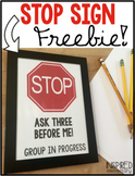 STOP Sign FREEBIE
