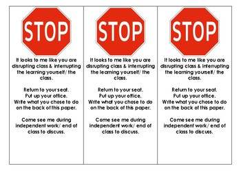 STOP Sign Redirection Activity