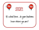 STOP Sign: Remind Kids to Sign Out