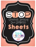 STOP {Students Tracking Own Progress} Sheets