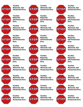 STOP! Teacher Space! Posters and Labels for the Classroom (Bundle)