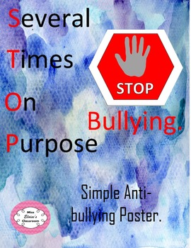 STOP bullying: anti-bullying simple display