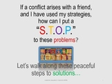 STOP for peaceful solutions and conflict resolution