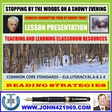 STOPPING BY THE WOODS ON A SNOWY EVENING - LESSON PRESENTATION