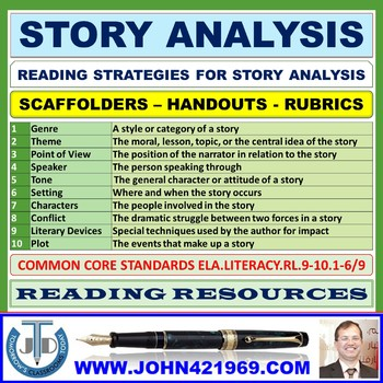 STORY ANALYSIS GUIDE: HANDOUT