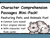 STORY ELEMENTS! Character Traits Comprehension Featuring PETS and ANIMALS!