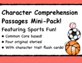 STORY ELEMENTS! Character Traits Comprehension Featuring SPORTS!