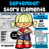 SEPTEMBER READING COMPREHENSION: STORY ELEMENTS IN SPANISH