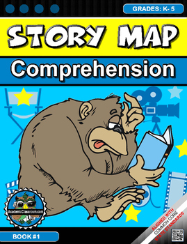 STORY MAPS GRAPHIC ORGANIZER TO USE WITH ANY BOOK (COMPREHENSION) Grades K-5