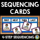 STORY PICTURE 4 STEP SEQUENCING EVENT CARDS KINDERGARTEN ACTIVITY SPEECH THERAPY