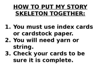 STORY SKELETON