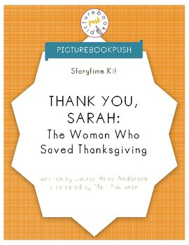 Storytime Kit for Thank You, Sarah by Laurie Halse Anderson